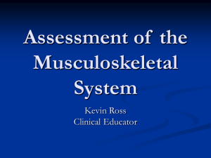 Assessment of the Musculoskeletal System