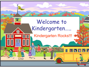 Mrs. Baldree`s Kindergarten Class