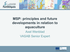 MSP: principles and future developments in relation to aquaculture