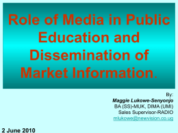 Role of Media in Public Education and