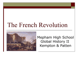 The Stages of the French Revolution