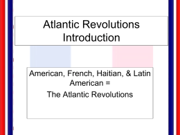 Atlantic Revolutions Powerpoint