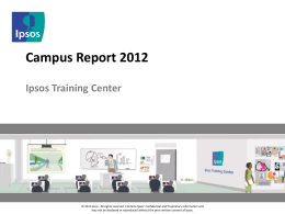 Final Report - Ipsos Training Center