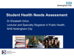 Unmet need - The Student Health Association