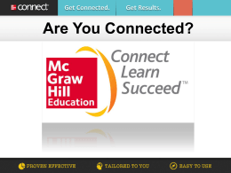 Are You Connected? - McGraw Hill Higher Education