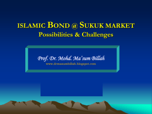 islamic bond market - Applied Islamic finance