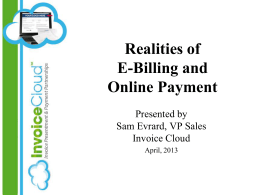 Paperless Billing & Electronic Payments