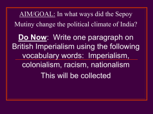 In what ways did the Sepoy Mutiny change the political climate of