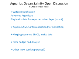 Aquarius Ocean Salinity Open Discussion