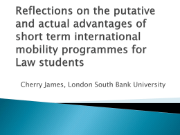 Cherry James - The Association of Law Teachers