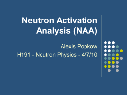 Neutron Activation Analysis (NAA)