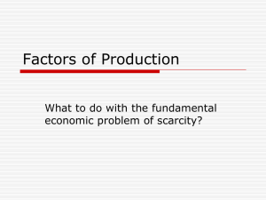 Factors of Production Notes
