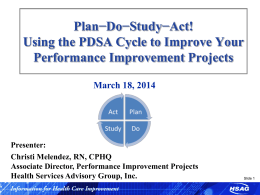 Using the PDSA Cycle to Improve Your PIPs