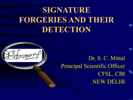signature forgeries and their detection