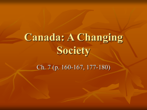 Canada: A Changing Society