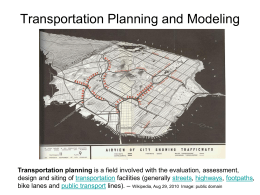 Transportation Planning Lecture