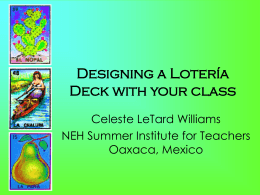 Designing a Lotería Deck with your class