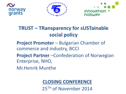 TRUST – TRansparency for sUStainable social policy