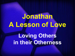 Jonathan – A Lesson of Love