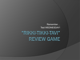 Rikki Tikki Review Powerpoint
