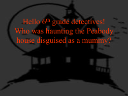 The Haunted House Mystery Unit