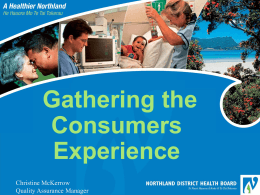 Gathering the consumer experience