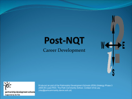 Career Development Post NQT