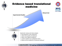 CAMARADES: Bringing evidence to translational