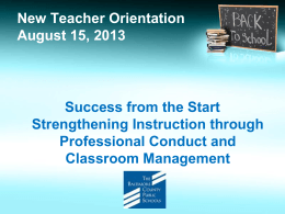 Classroom Management - Baltimore County Public Schools
