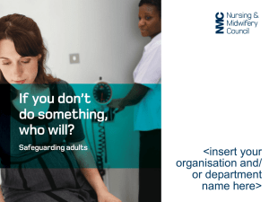 NMC - Safeguarding Adults