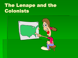 Lenape and Colonists
