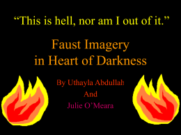 Faust Imagery in Heart of Darkness