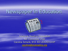 Newspaper In Education - Arkansas Reading Association