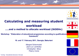 Calculating and measuring student workload