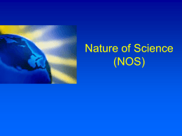 Nature of Science (NOS)