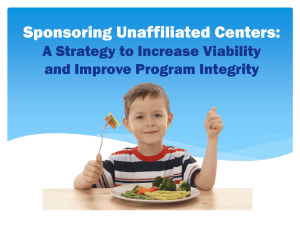 Sponsoring Unaffiliated Centers