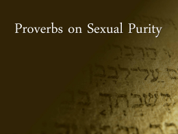 Proverbs on Sexual Purity