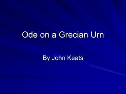 ode on a grecian urn tone