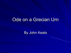 Ode to a Grecian Urn Summary