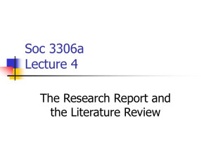 Getting started on the Literature Review