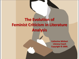 The Evolution of Feminism in Literature Analysis