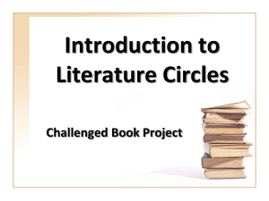Literature Circles Introduction
