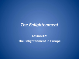 The Enlightenment - Elgin Local Schools