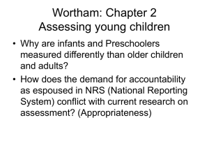 Wortham: Chapter 2 Assessing young children