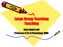 Large group teaching