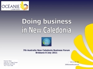 Doing Business in New Caledonia