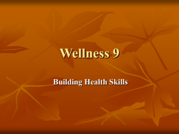 Building Health Skills Chapter 2 Lesson 1