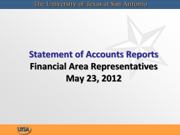 Statement of Accounts Reports
