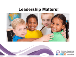 Leadership Matters (PowerPoint presentation)