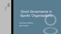 Good Governance in Sports` Organisations Powerpoint pp1000024